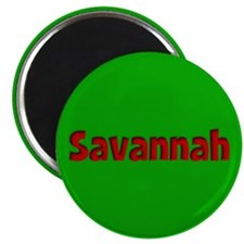 Savannah Green and Red Magnet