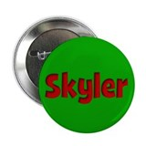 "Skyler Green and Red 2.25"" Button (10 pack)"