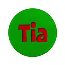 "Tia Green and Red 3.5"" Button"