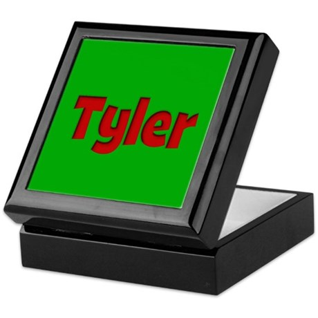 Tyler Green and Red Keepsake Box
