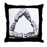 Recycling Diver Throw Pillow