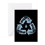 Recycling Diver Greeting Cards (Pk of 10)