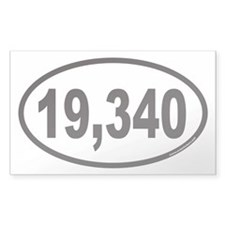Mount Kilimanjaro 19,340 Euro Oval Decal