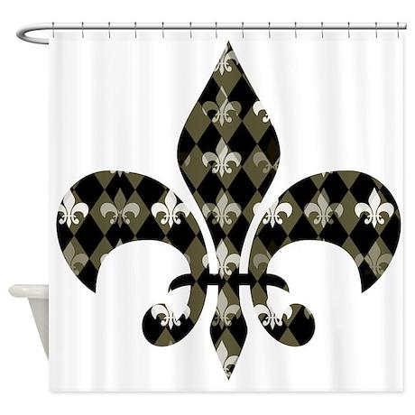 Fleur de lis shower curtains fleur de lis fabric shower curtain