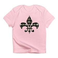 Gold and Black Fleur de lis Infant T-Shirt