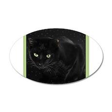 Mystical Black Cat 35x21 Oval Wall Decal