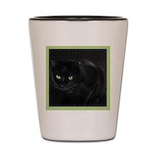 Mystical Black Cat Shot Glass
