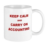 Month End - Keep Calm Carry On AccountingMug