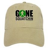 Gone Squatchin Baseball Cap Black/Green Logo