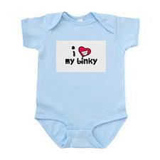I Love my binky Infant Creeper