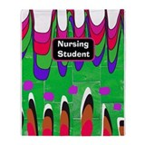 Nursing student funky.PNG Throw Blanket