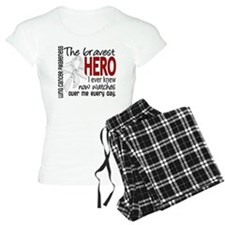 Bravest Hero I Knew Lung Cancer Pajamas