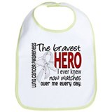 Bravest Hero I Knew Lung Cancer Bib