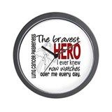 Bravest Hero I Knew Lung Cancer Wall Clock