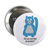 Mean Kitty Knitting Button