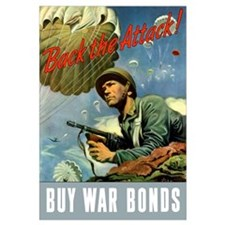 Digitally restored vector war propaganda poster. B