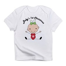 1st Christmas Stick Girl Baby Infant T-Shirt