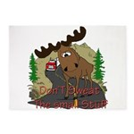 moose fun 5'x7'Area Rug