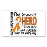 Bravest Hero I Knew Multiple Sclerosis Decal