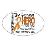 Bravest Hero I Knew Kidney Cancer Decal