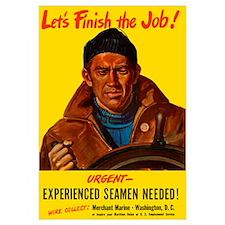 Digitally restored vector war propaganda poster. L
