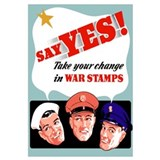 Digitally restored vector war propaganda poster. S