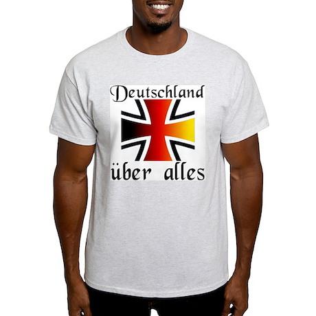 Deutschland uber alles Ash Grey T-Shirt by krautkorner