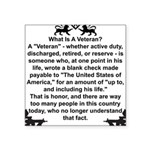 What is a Veteran? Rectangle Sticker