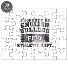 Personalized Property of English Bulldog Puzzle