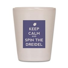 Keep Calm and Spin the Dreidel Shot Glass