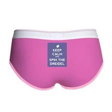 Keep Calm and Spin the Dreidel Women's Boy Brief