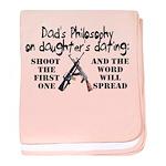 Dad's Philosophy baby blanket