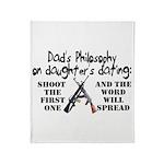 Dad's Philosophy Throw Blanket