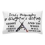 Dad's Philosophy Pillow Case