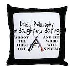 Dad's Philosophy Throw Pillow