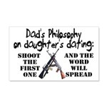 Dad's Philosophy 20x12 Wall Decal