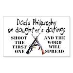 Dad's Philosophy Sticker (Rectangle)