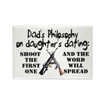 Dad's Philosophy Rectangle Magnet