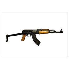 Russian AK-47 assault rifle with folding metal but