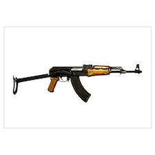 Russian AK-47 assault rifle with folding metal but
