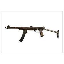 Russian PPS-43 submachine gun with stock extended
