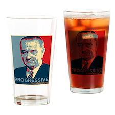 "LBJ - ""Progressive"" Drinking Glass"