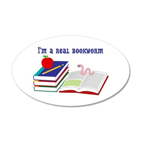Im a real bookworm 35x21 Oval Wall Decal