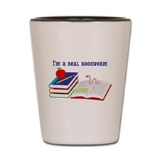 Im a real bookworm Shot Glass