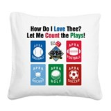 Count the Plays Square Canvas Pillow