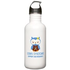 Down Syndrome Support Owl Water Bottle