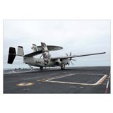 An E-2C Hawkeye launches off the flight deck of US