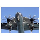 An E-2C Hawkeye prepares for landing