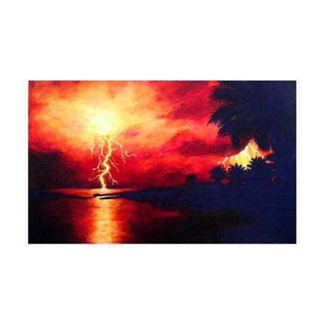 Fire in the Sky 35x21 Wall Decal