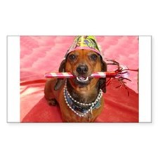Party Animal Dachshund Decal